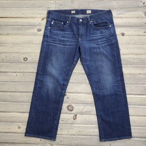 AG Tomboy Crop Relaxed Straight Jean Capri 31R